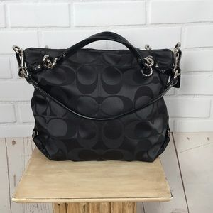 Coach Black Sateen Brooke Tote Bag E1176-F17184